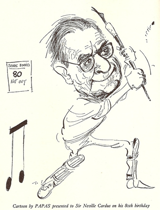 Cricket Writer Par Excellence - The Incomparable Neville Cardus